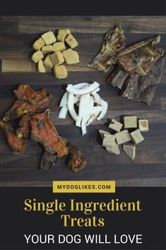 When it comes to dog treats, simplicity is a good thing. Check out our favorite single ingredient dog treats - from dehydrated to freeze dried! Dog Biscuit Recipes, Dog Treat Recipes, Dog Food Recipes, Homemade Dog Cookies, Homemade Dog Food, Pet Treats, Healthy Dog Treats, Chicken For Dogs, Dog Diet