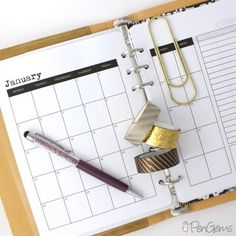 PenGems Planner Printables - A5 Simple Theme