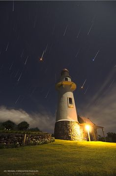 Lighthouse - Star Trails