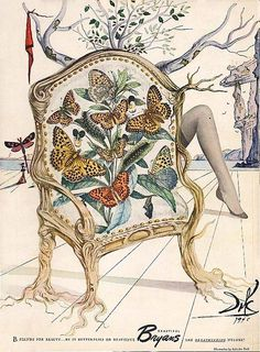 1946 Salvador Dali art in Bryans Nylons Ad.
