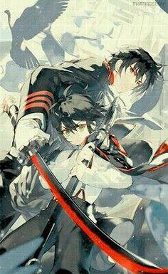 Ichinose Guren and Hyakuya Yuichiro