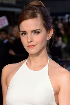 Hair Updos: The Easy-To-Copy Styles From The Red Carpet - Emma Watson With A Chic Updo from InStyle.com
