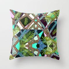 AIWAIWA TROPICAL Throw Pillow by Vasare Nar - $20.00