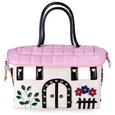Partiss Womens Colorful House Handbag Lolita Messenger Bag ($40) ❤ liked on Polyvore featuring bags, messenger bags, pink bag, multi coloured bags, pink messenger bag and colorful messenger bags
