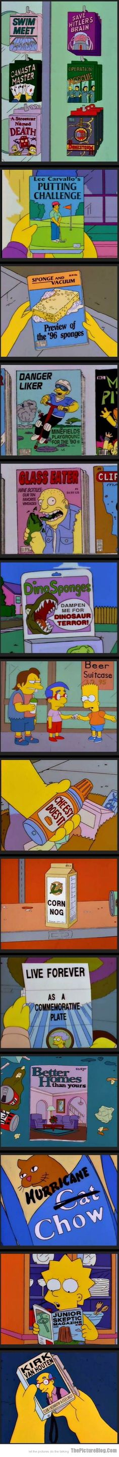 Funny Products found in The Simpsons