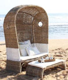 #strandkorb #rattan #xxl #sessel #stuhl #wohnzimmer #wohnideen #ausgefallen #außergewöhnlich #wintergarten