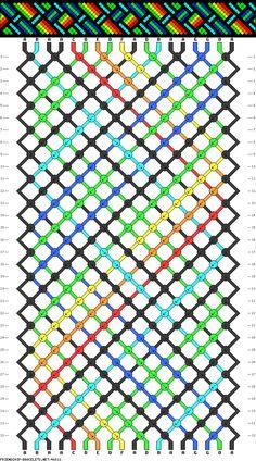 18 strings, 7 colors, 32 rows