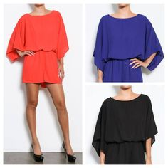ONLY Black in stock!This black romper {yep, its shorts!} is a must have for a night out on the town!Large fits a 10-12