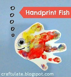 Craftulate Handprint Fish and other ocean crafts