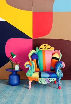 Artist Stephen Ormandy of Dinosaur Designs works - Vogue Living magazine March 2013 loving that chair Color Inspiration, Interior Inspiration, Kitsch, Vogue Living, Dinosaur Design, Arte Pop, Funky Furniture, Colorful Decor, Home Decor Accessories
