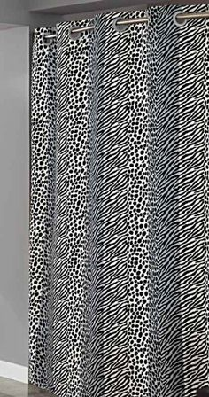 Hookless Animal Print Shower Curtain