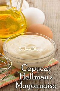 Mayonnaise copycat for hellmans made in a blender Homemade Mayonaise, Homemade Sauce, Best Foods Mayonnaise Recipe, Hellmans Recipes, Copycat Recipes, Sauce Recipes, Dessert, Side Dishes, Gourmet