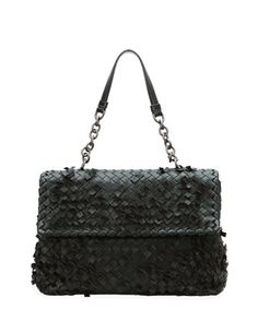 Olimpia Tobu Fringe Shoulder Bag, Black by Bottega Veneta at Neiman Marcus.