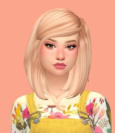 A fluffy angled bob with hair tucked behind one ear. Found in TSR Category 'Sims 4 Female Hairstyles' Maxis, Sims 4 Cc Skin, Sims 4 Mm Cc, Tumblr Sims 4, Mods Sims, Sims New, Sims 4 Anime, The Sims 4 Cabelos, Pelo Sims