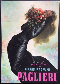 #Ciprie e #profumi #Paglieri, #Alessandria #original #vintage #poster manifesti originali d'epoca www.posterimage.it
