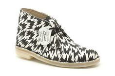Clarks Bottes Originals femme - Desert Boot - Blanc composé