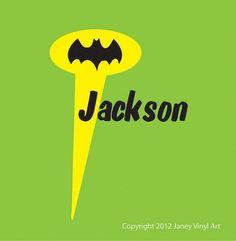 Super Hero Room  Batman Decal  Super Hero by JaneyVinylArt on Etsy, $15.00