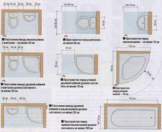 Как правильно расставить оборудование в ванной согласно нормативному расстоянию