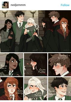 Magia Harry Potter, Harry Potter Comics, Harry Potter Feels, Harry Potter Puns, Draco Harry Potter, Harry Potter Ships, Harry Potter Drawings, Harry Potter Tumblr, Harry Potter Pictures