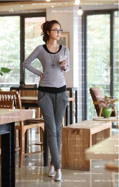 Korean New Women's Harem Casual Pant on BuyTrends.com, only price $19.50