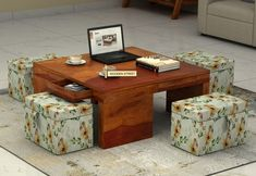 Buy Coco Coffee Table (Honey Finish) Online in India - Wooden Street Space Saving Furniture, Home Decor Furniture, Table Decor Living Room, Room Decor, Convertible Table, Buy Coffee Table, Table Tents, Tent Design, Center Table