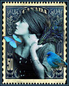 belaquadros:    Rhapsody in Blue  Grannie Annie - The Whimsey Asylum