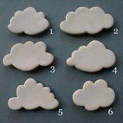 ceramic cloud magnets {paperboat press} $10