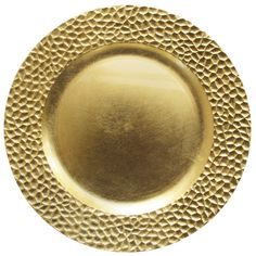 """$2.89 The Jay Companies 13"""" Round Gold Hammered Polypropylene Charger Plate"""