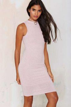 Ma Cherie Ribbed Cutout Dress