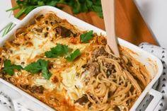 Spagetti-jauhelihavuoka - Ruoka & Koti Spagetti, Lasagna, Koti, Food And Drink, Dinner, Ethnic Recipes, Dining, Food Dinners, Lasagne