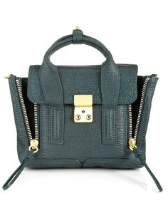 Green Mini Leather Pashli Satchel / 3.1 Philip Lim