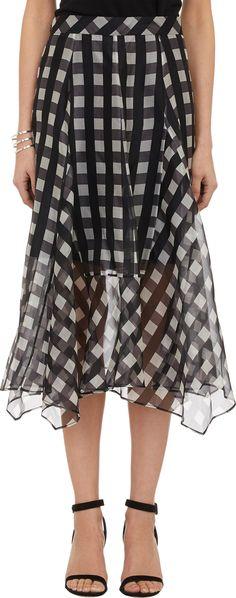 Marissa Webb Gingham Organza Yasmin Skirt at Barneys.com