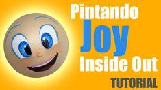 Pintando cara Alegria de Inmensamente - Painting Joy's face of Inside out