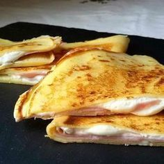 Crepes cream cheese and ham Food Porn, Spanish Dishes, Breakfast Toast, Tasty, Yummy Food, Cooking Recipes, Healthy Recipes, Food Humor, Churros
