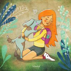 blue dog illustration Dog Illustration, Illustrations, Blue Dog, Childrens Books, Dog Lovers, Behance, Princess Zelda, Graphic Design, Dogs