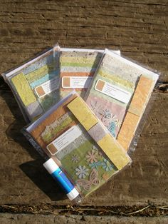 Make Your Own Cards and Bookmarks ....  with Handmade Recycled Paper