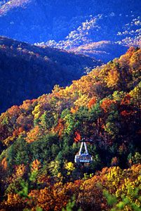 Gatlinburg, Tennessee. Beautiful place to visit. If you plan on spending any time in town though, plan on doing a lot of walking. Tourists are bountiful and parking is limited.