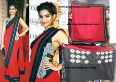 $99 Sonam Kapoor Stylish Saree with free shipping offer only at www.buyindianwear.com