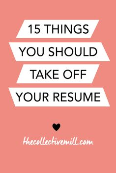 Sometimes, during a job search, it can be easy to go a little overboard on your resume. Sharing every single accomplishment and making it look overly extravagant can be temping. Here are 15 things you should take off your resume to make it look shiny and Resume Help, Job Resume, Resume Tips, Resume Examples, Resume Ideas, Job Cv, Cv Tips, Create A Resume, Business Resume