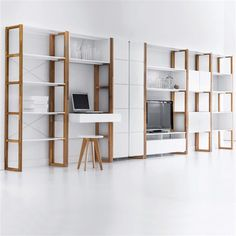 Compo Oak Storage Cabinet LA REDOUTE INTERIEURS You'll love the pared-down style of this storage cabinet. Lots of storage space, an elegant graphic look and a stylish finish. Wardrobe Storage Cabinet, Bookcase Storage, Office Storage, Shelving, Modular Furniture, Home Furniture, Art Deco Bathroom, Office Cabinets, Home Office Design