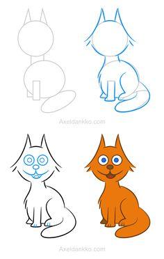 Vous pouvez apprendre à dessiner un chat comme celui disponible sur cette page en seulement quatre étapes faciles!