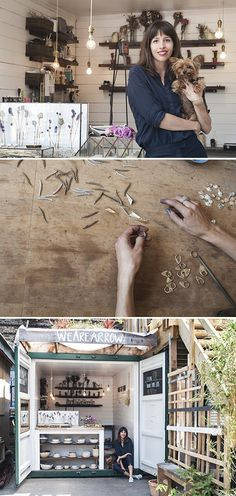 Tatiana Andrea runs her nature-inspired jewelry business, WeAreArrow, from a revamped shipping container in London's Netil Market. Explore her lovely workspace today on the Seller Handbook.