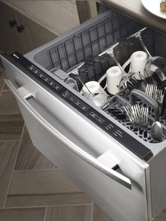 dishwasher drawers that can be installed at various heights for any need.