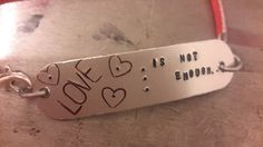 Love is Not Enough  NIN Bracelet by BeadMeSilly on Etsy, $15.00