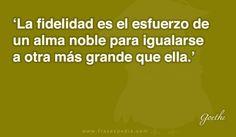 La fidelidad es el esfuerzo de un alma noble para igualarse a otra más grande que ella.