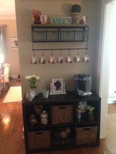 Another cute idea for a coffee bar in your house!!!