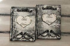 Rustic Wedding Vow Books Bridal Keepsake Gift by InspirellaDesign