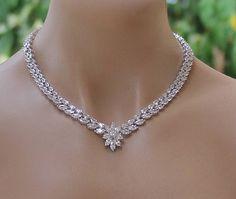 Crystal+Bridal+Necklace+Crystal+Necklace+Crystal+Wedding