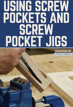 Screw pockets or pocket holes are perfect for piecing together the rails and stiles of a face frame. By using a step drill and a specialized screw pocket jig, you can easily create screw pockets on your next woodworking project.