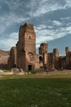 The Baths of Caracalla, Rome, Lazio, Italy - Emporer Caracalla took up on the original idea for a bath by Septimius Severus and built this extravagant public bath AD 212-216.